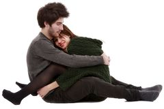 Bild av ett ungt par, valentindagbegrepp Royaltyfria Bilder