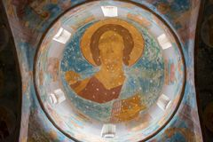 Bild av frälsaren på kupolen av domkyrkan Royaltyfria Foton