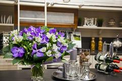 Bild av garnering i köket royaltyfri foto