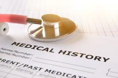 Bild av hjärta och stetoskopet MEDICINSKT begrepp Royaltyfria Foton