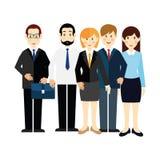 Bild 5 av kontorsarbetare i affärsdräkter Arkivbild