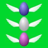 Bild av kulöra påskägg i flykten royaltyfri illustrationer