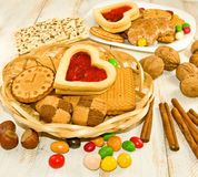 Bild av många kakor royaltyfri foto