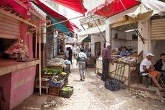 bild av marknadsplatsen, Casablanca, Marocko Royaltyfri Fotografi