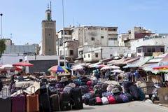 bild av marknadsplatsen, Casablanca, Marocko Royaltyfri Bild