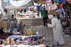 bild av marknadsplatsen, Casablanca, Marocko Arkivbilder