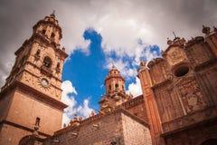 Bild av MoreliaÂs domkyrka, Michocan, Mexico arkivfoto