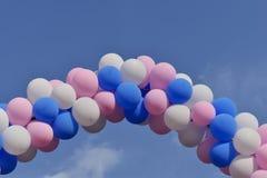 Bild av några färgrika ballonger royaltyfria foton