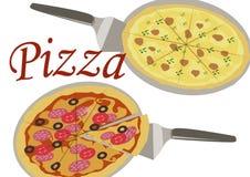 Bild av pizza vektor illustrationer