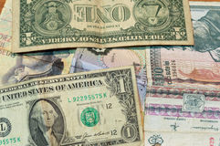 Bild av sedlar Fotografering för Bildbyråer
