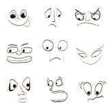 Bild av sinnesrörelser, skräck av vredet av ilsken glädje vektor illustrationer