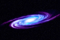Bild av spiralgalaxen Spiralgalax i djupt utrymme med bakgrund för stjärnafält Dator frambragd abstrakt bakgrund Royaltyfri Bild