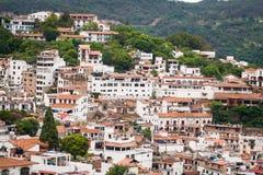 Bild av Taxco, Guerrero en färgrik stad i Mexico fotografering för bildbyråer