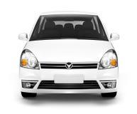 bild 3D av Front View av den vita bilen Arkivbild
