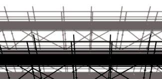 bild 3d av konstruktionsmaterialet till byggnadsställning Arkivbild