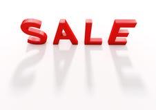 bild 3d av röd text för försäljning Arkivbilder