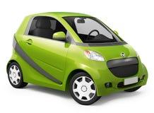 Bild 3D des hybriden Autos Stockbilder