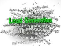 Bild 3d Führungs-Generation gibt Konzeptwort-Wolkenhintergrund heraus Lizenzfreie Stockfotografie