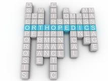 Bild 3d Orthopädie gibt Konzeptwort-Wolkenhintergrund heraus Lizenzfreies Stockfoto