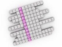 Bild 3d Performanceproblemkonzeptwort-Wolkenhintergrund Stockfoto