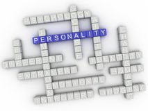 Bild 3d Persönlichkeit gibt Konzeptwort-Wolkenhintergrund heraus Lizenzfreie Stockbilder