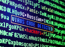 Bild 3D Virus im Programmcode lizenzfreie abbildung