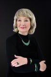 Bild der alten Frau mit Malachitsatz Lizenzfreies Stockfoto