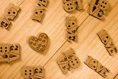 Bild der Aufschrift der Liebe als Symbol der Liebe und der Hingabe lizenzfreie stockbilder