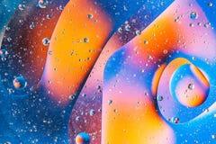 Bild der blauen unwirklichen Galaxie, abstrakter Hintergrund mit Blau Stockbild