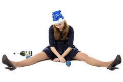 Bild der Frau nach Weihnachtsfest stockfotografie