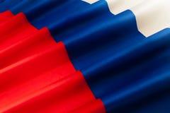 Bild der gefalteten Flagge der Russischen Föderation Stockbilder
