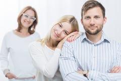 Bild der glücklichen Familie Stockfotos