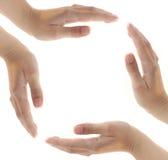 Bild der Hände Stockfotos