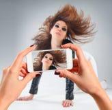 Bild der jungen Frau Stockbilder