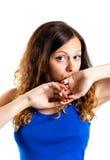 Bild der luxuriösen leichten Frau Lizenzfreie Stockfotos
