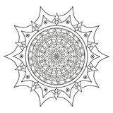 Bild der Schwarzweiss-Mandala Stockfotografie