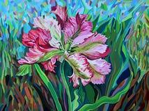 Bild der Tulpe in der grafischen Art Stockfotos