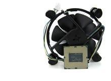 Bild der Zentraleinheit und DES CPU-Ventilators lokalisierte O Stockbild