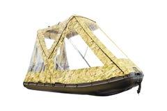 Bild des aufblasbaren Bootes Stockbild