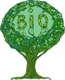 Bild des Baums mit dem Wort Bio Lizenzfreie Stockbilder