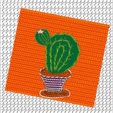 Bild des blühenden Kaktus Stockbild