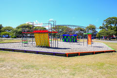 Bild des bunten Spielplatzes mit Ausrüstung, Levin, Neuseeland stockfoto