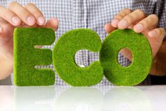 Eco Alphabetkonzept Lizenzfreies Stockbild