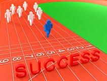 Bild des Führungskonzeptes 3D Stockfotos