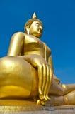 Bild des Farbengoldes Buddha Lizenzfreies Stockfoto