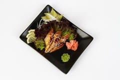 Bild des geschmackvollen Sashimis mit Mitesser Stockbild