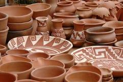 Bild des Handwerkers, Haus bildete die Produkte, gebildet von den Indern. Stockfotografie