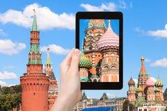 Bild des Heiligen Basil Cathedral in Moskau Lizenzfreie Stockfotos