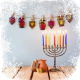 Bild des jüdischen Feiertags Chanukka Lizenzfreie Stockfotografie