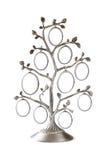 Bild des klassischen Rahmens der Weinleseantike des Stammbaums auf Weiß Stockbilder